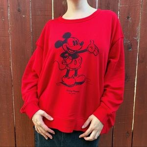 Sweatshirt with Mickey Mouse H&M.
